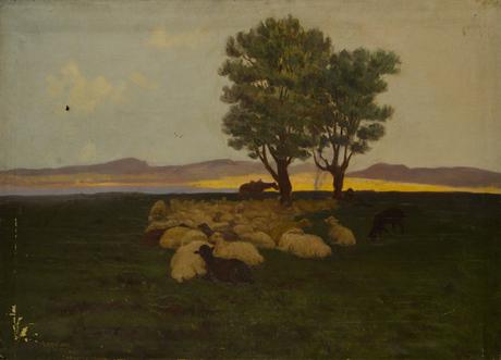 Отара на отдыхе 1915
