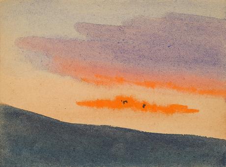 Пейзаж, акварель 1931