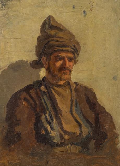 Портрет мужчины, масло, картон