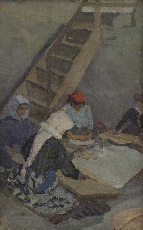Пекут хлеб 1914