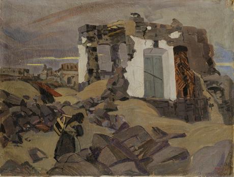 Разрушенный дом в Ленинакане 1926