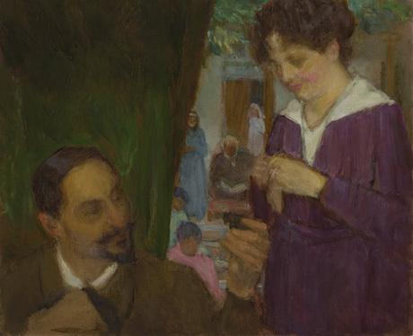 Автопортрет с семьей 1919