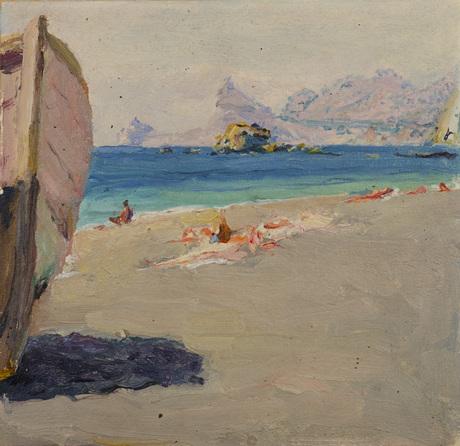 Вид на гору Орел с побережья Кубач 1934
