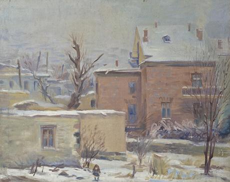 Зимний пейзаж (дом художника Мартироса Сарьяна)