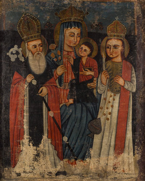 Богоматерь, св. Григорий и св. Степанос, 18 век