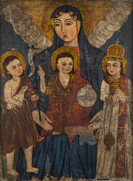 Богоматерь с Младенцем, Иоанн Предтеча и св. Степанос