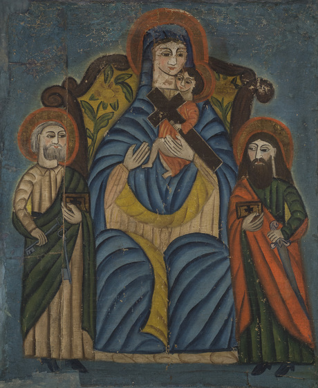 Богоматерь с Младенцем, с апостолами Петром и Павлом, 18 век