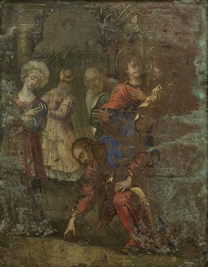 Евангельская сцена из жизни Христа