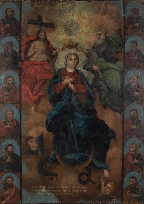 Коронование Богородицы, 19 века