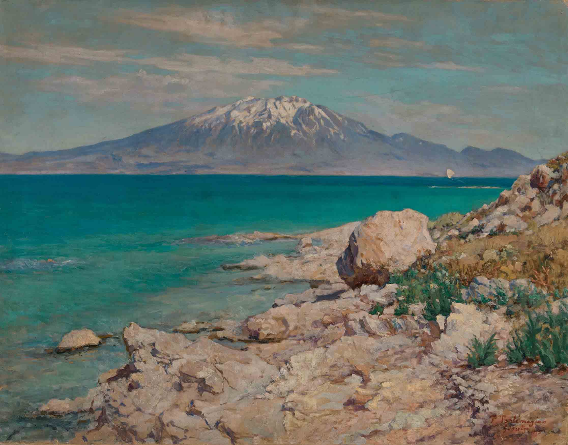 Гора Сипан с острова Ктуц 1915