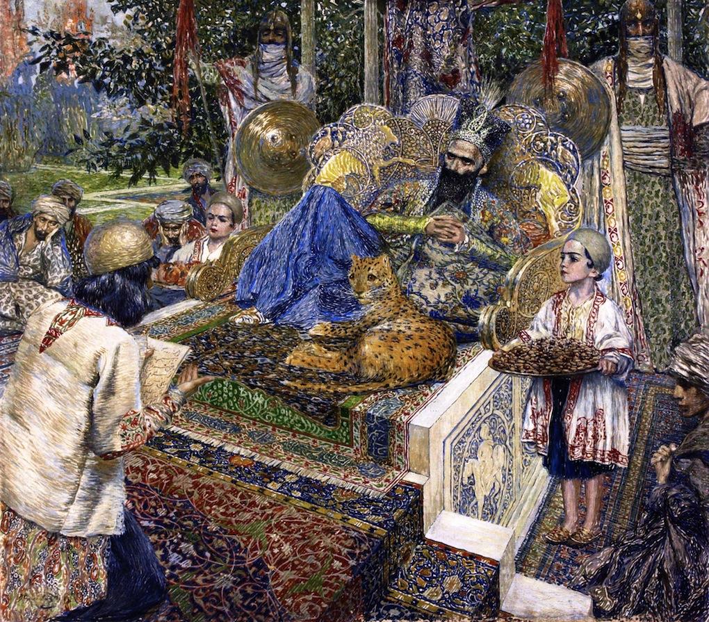 Фирдуси читает поэму «Шах-Наме» шаху Махмуду Газневи 1913