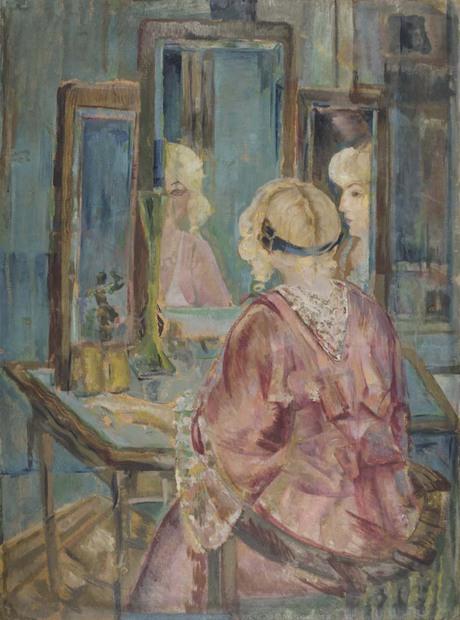 Перед зеркалом, 1918