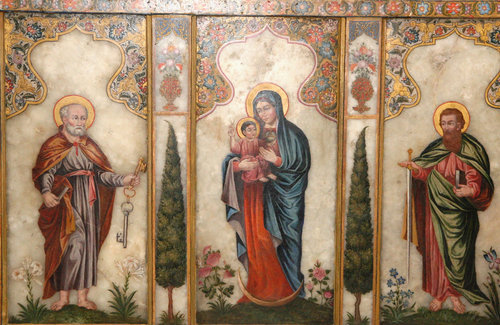 Павел, Богоматерь с Младенцем и Петр