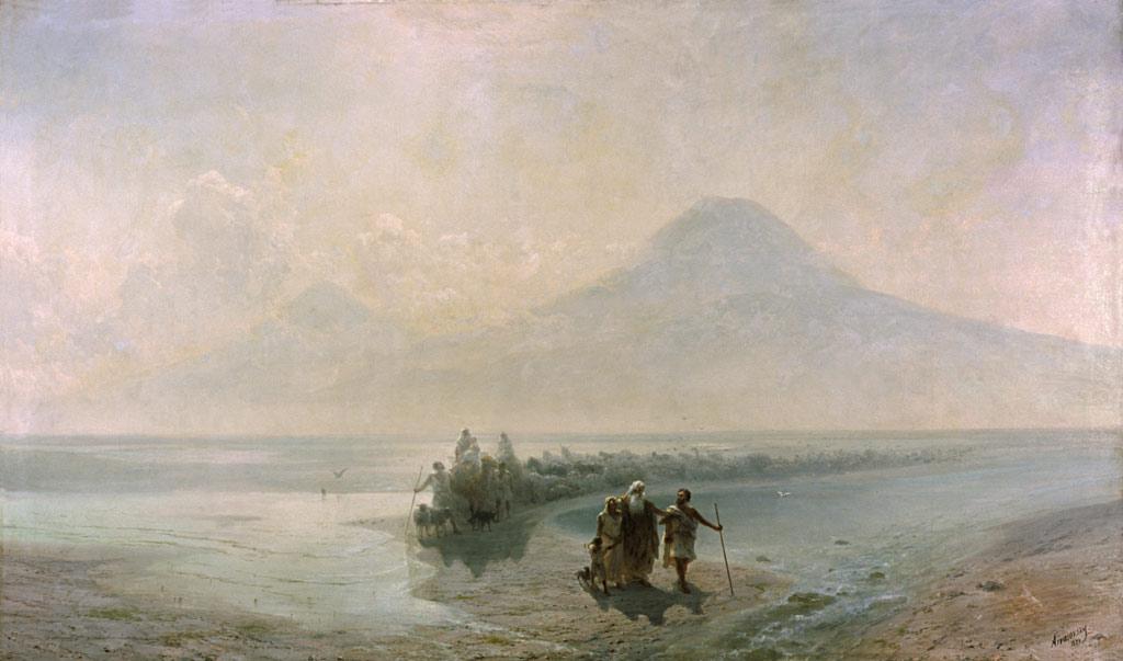"""И.Айвазовский.""""Ной спускается с горы Арарат """""""