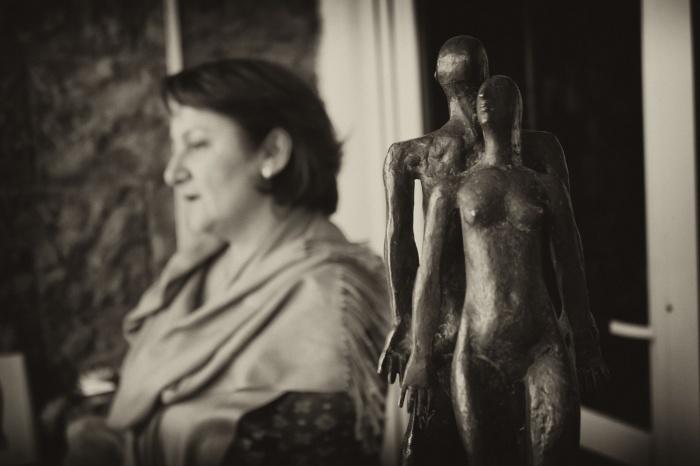 Нуне Туманян на персональной выставке в Российско-Армянском Университете. gazeta.rau.am