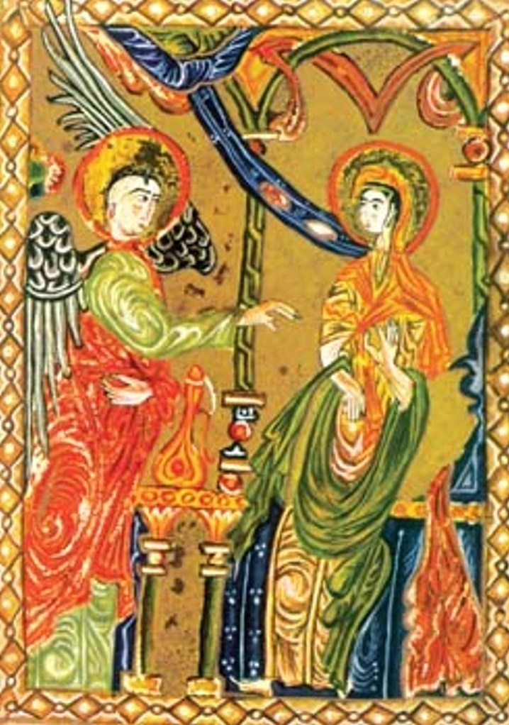«Благовещение». Миниатюра из Евангелия. Акоб Джугаеци, 1585 год