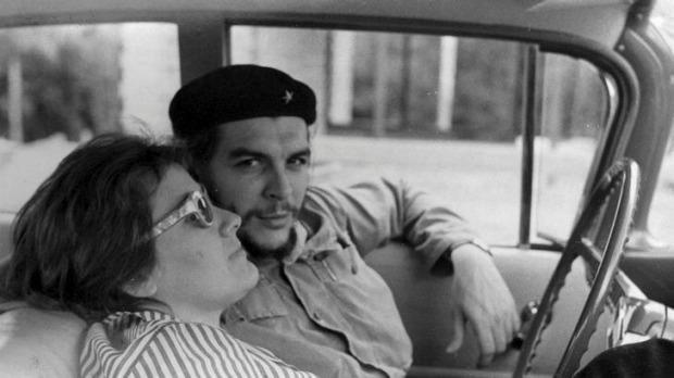 Че Гевара и его вторая жена Аделаида Марч.