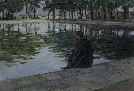 """Егише Тадевосян """"Комитас у пруда в Эчмиадзине"""" 1894"""