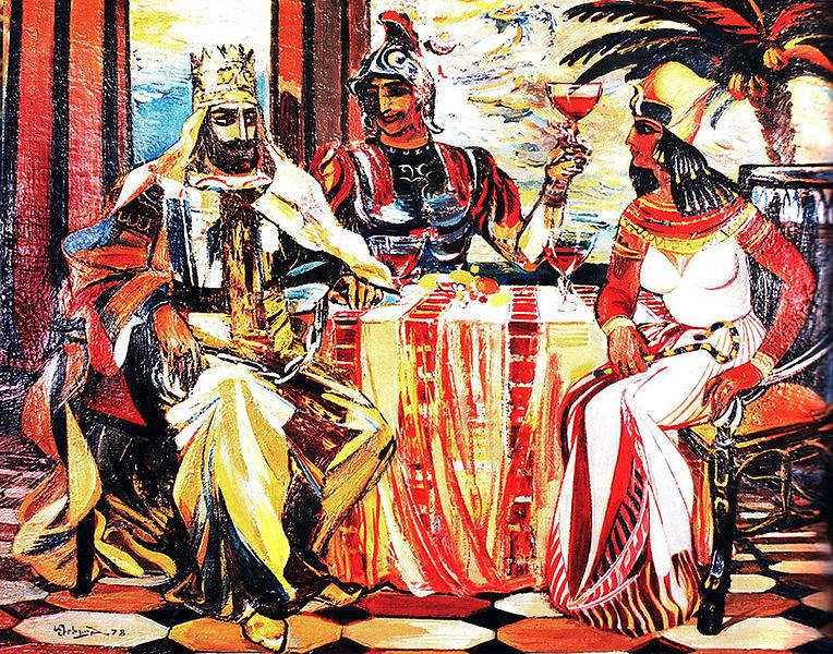 Театр Древней Армении - Первое известное нам в Армении театральное здание по эллинистическому образцу и предназначавшееся для большого числа зрителей построил царь Тигран II Великийв своей новой столице Тигранакерте в 69 г. до н.э.
