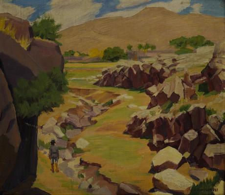 У села Аван близ Арагаца, 1931-32