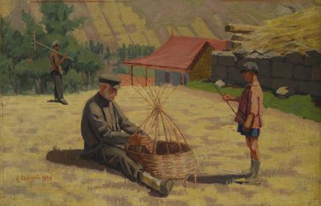 Дед и внучек, 1929