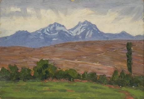 Вид на Арагац из Еревана, 1927