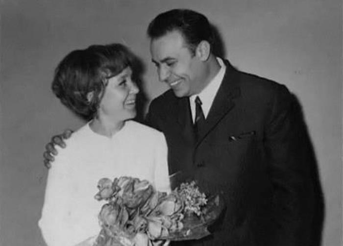 Надежда Румянцева и ВиллиХштоян вдень свадьбы,1966 год| fotostrana.ru