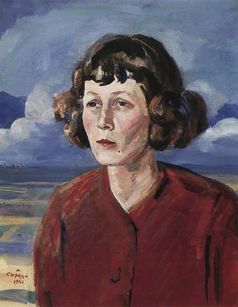 Мартирос Сарьян. Портрет поэтессы Марии Петровых, 1946 ǁ  wikiart.org