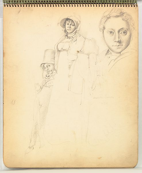 Горки «набивает руку» на портретах Энгра