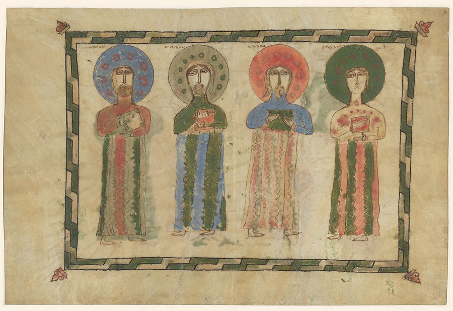 Лист с изображением Евангелистов