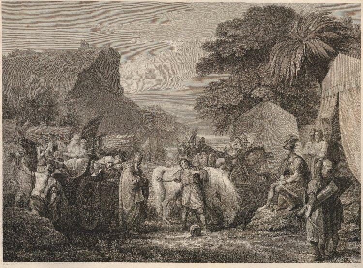 Гравюра с изображением Тиграна I и Кира II Великого