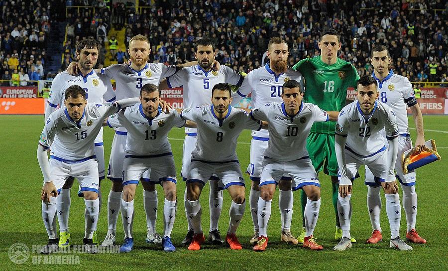 Сборная Армении перед игрой с командой Боснии и Герцеговины (март 2019) | ffa.am