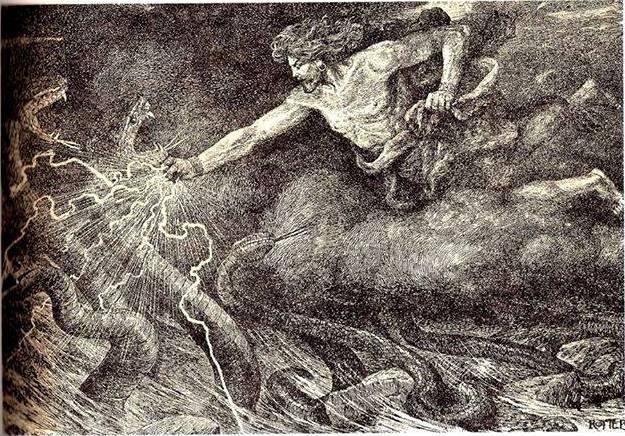 Ваагн-драконоборец на картине советского художника Иосифа Роттера ǁ wikimedia.org