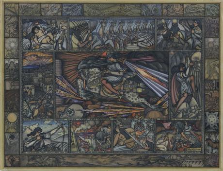 Акоп Коджоян. Иллюстрация к эпосу «Давид Сасунский», 1922 ǁ Национальная галерея Армении, gallery.am