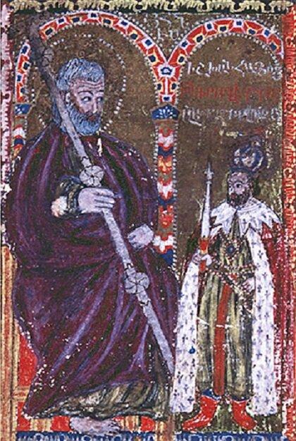 Ованес Ерзнкаци Плуз и князь Аплоц. Минатюра 1644 года ǁ wikimedia.org