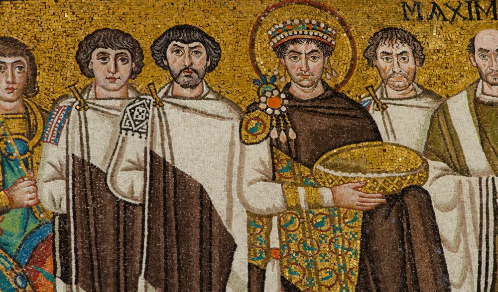 Италия. Равенна. Фрагмент фрески в соборе Сан-Витале. Источник: pinterest.com