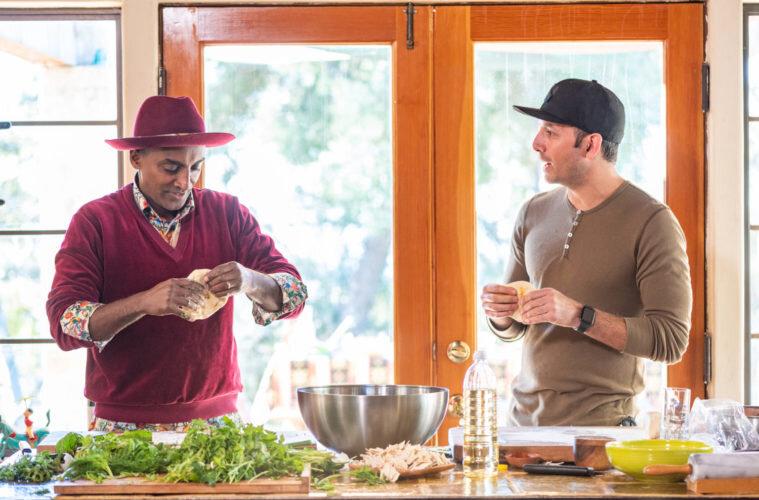 Маркус Самуэльсон и шеф-повар Ара Зада. Фото:  laweekly.com