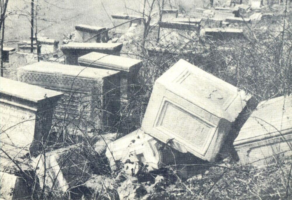 Армянское кладбище в Шуши после резни 1920 года. Фото: wikipedia.org