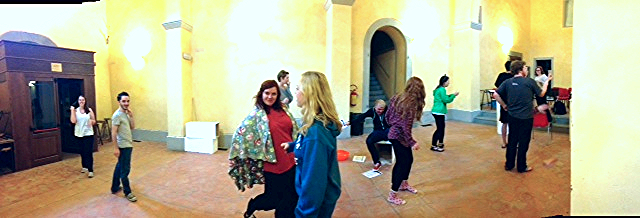 Rehearsal in a deconsecrated chapel in Cortona, Italy, Summer 2014