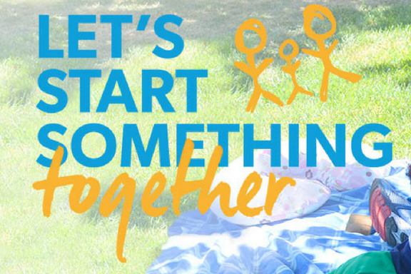 Let's start something together graphic.