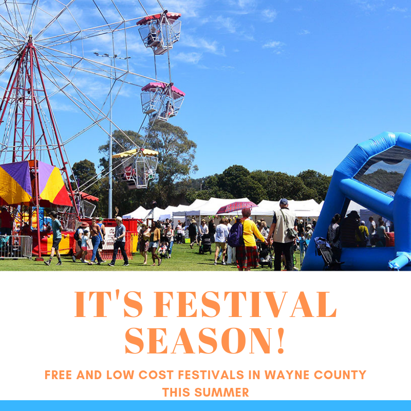 FREE AND LOW COST FESTIVALS IN WAYNE COUNTY