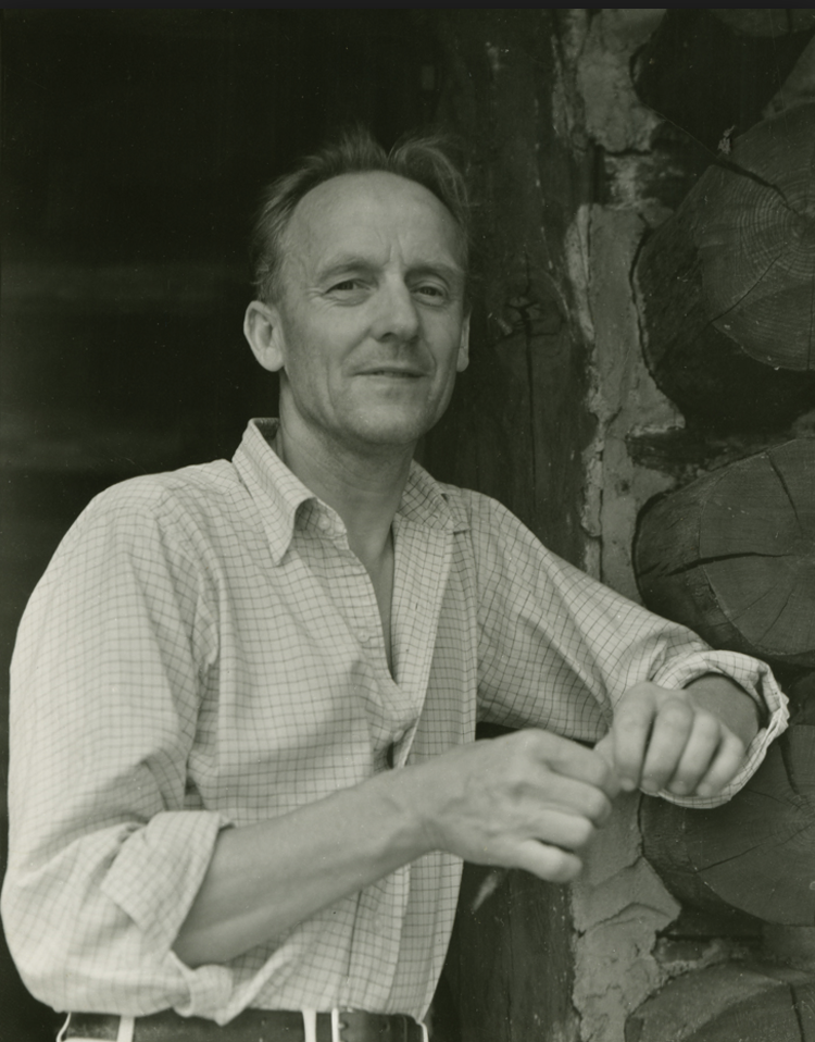Wharton Esherick at his studio in Pennsylvania