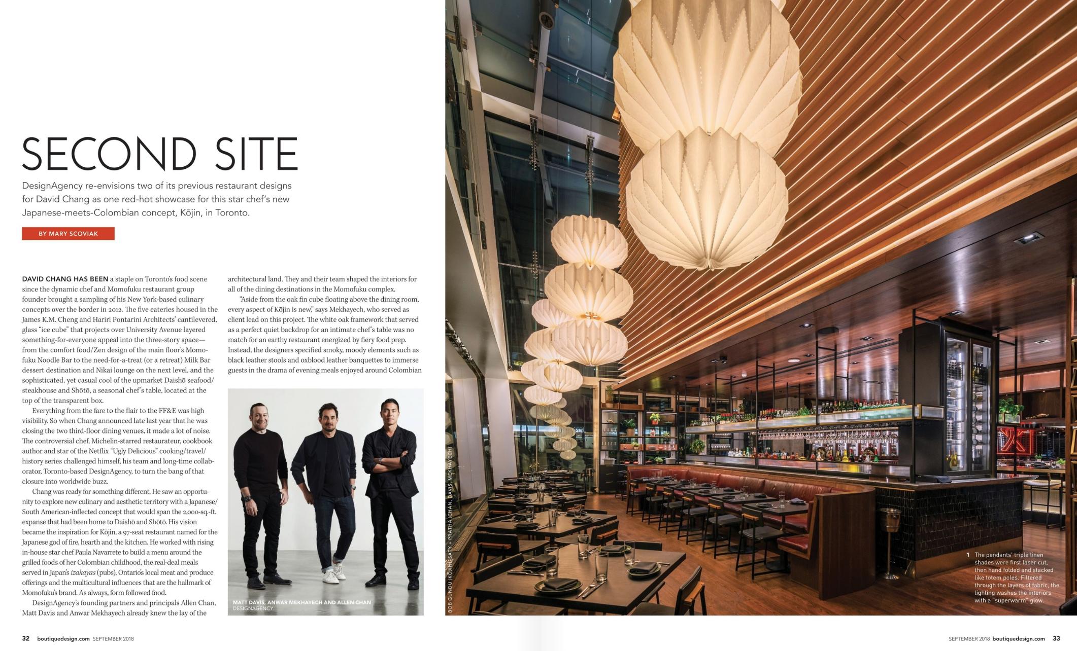 Boutique Design Magazine, Sept 2018