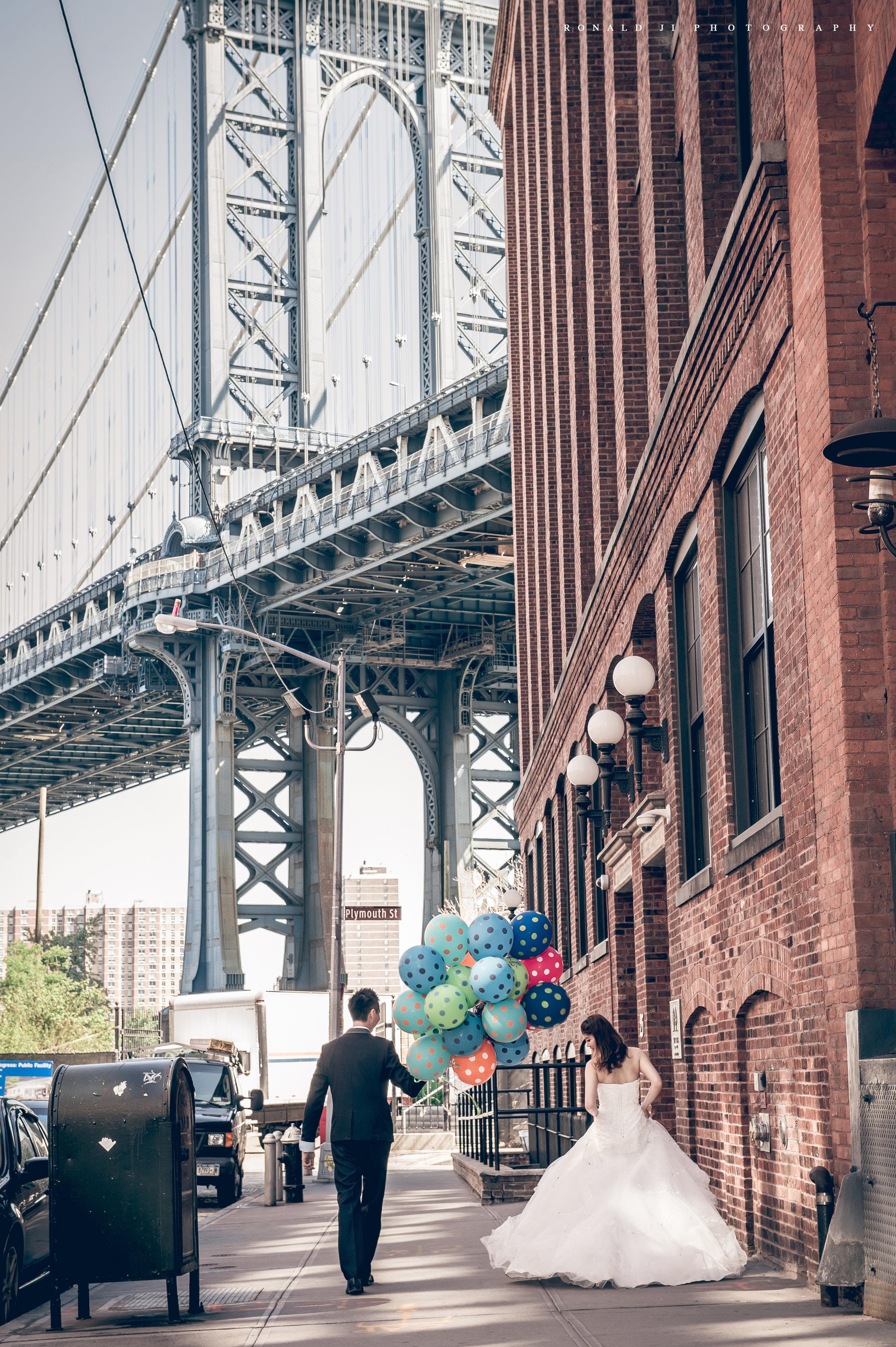 「曼哈頓大橋Manhattan Bridge」By Ronald Ji