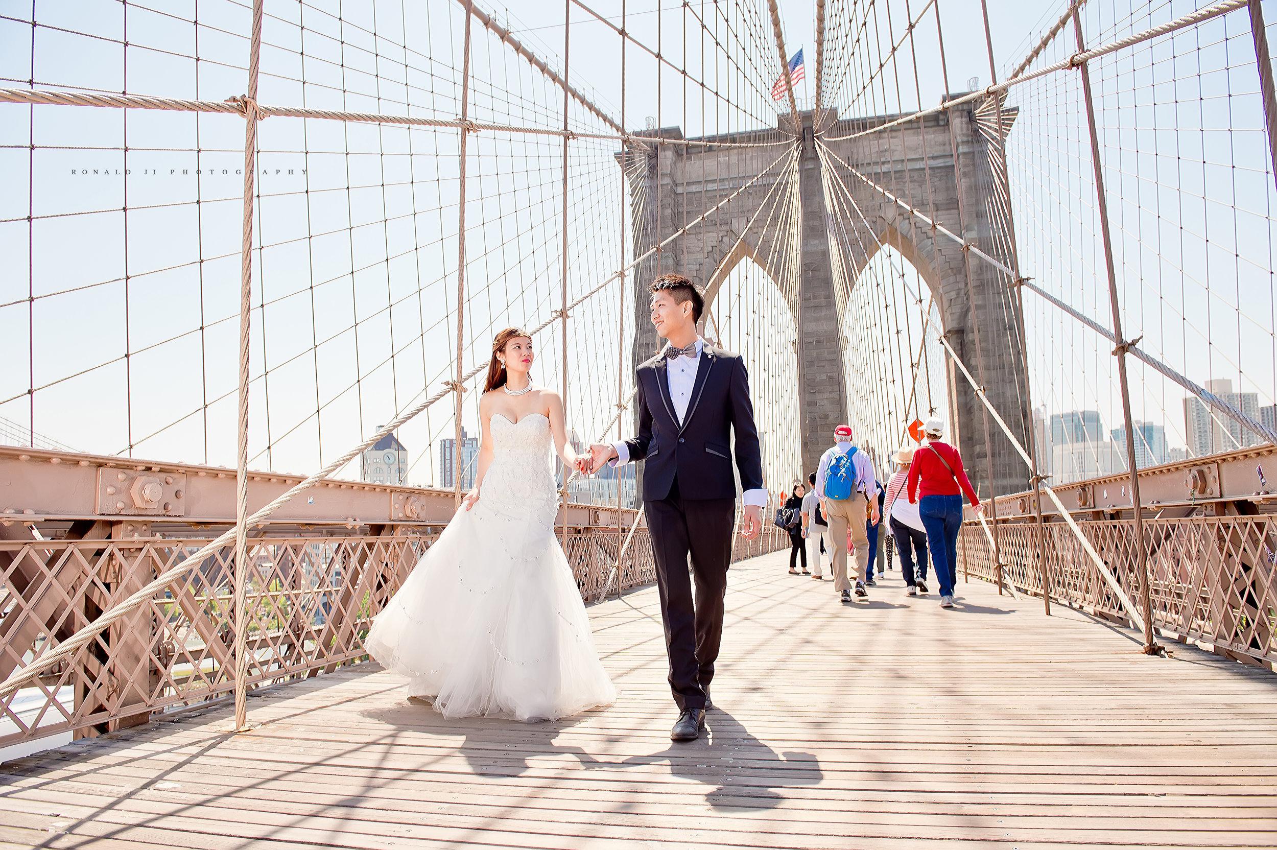 「布魯克林大橋Brooklyn Bridge」By Ronald Ji