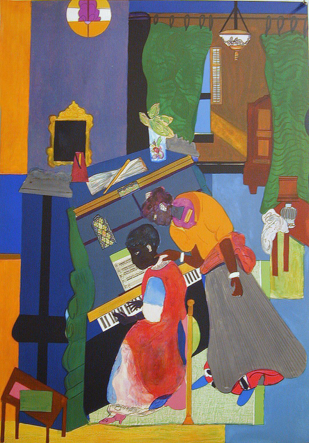 Romare Bearden,  The Piano Lesson   ,  1983     Image courtesy of Art @ Romare Bearden Foundation/Licensed by VAGA, New York, NY