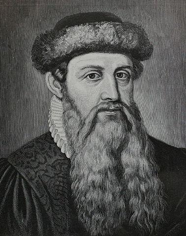 Johannes Gutenberg, Public Domain Image  .