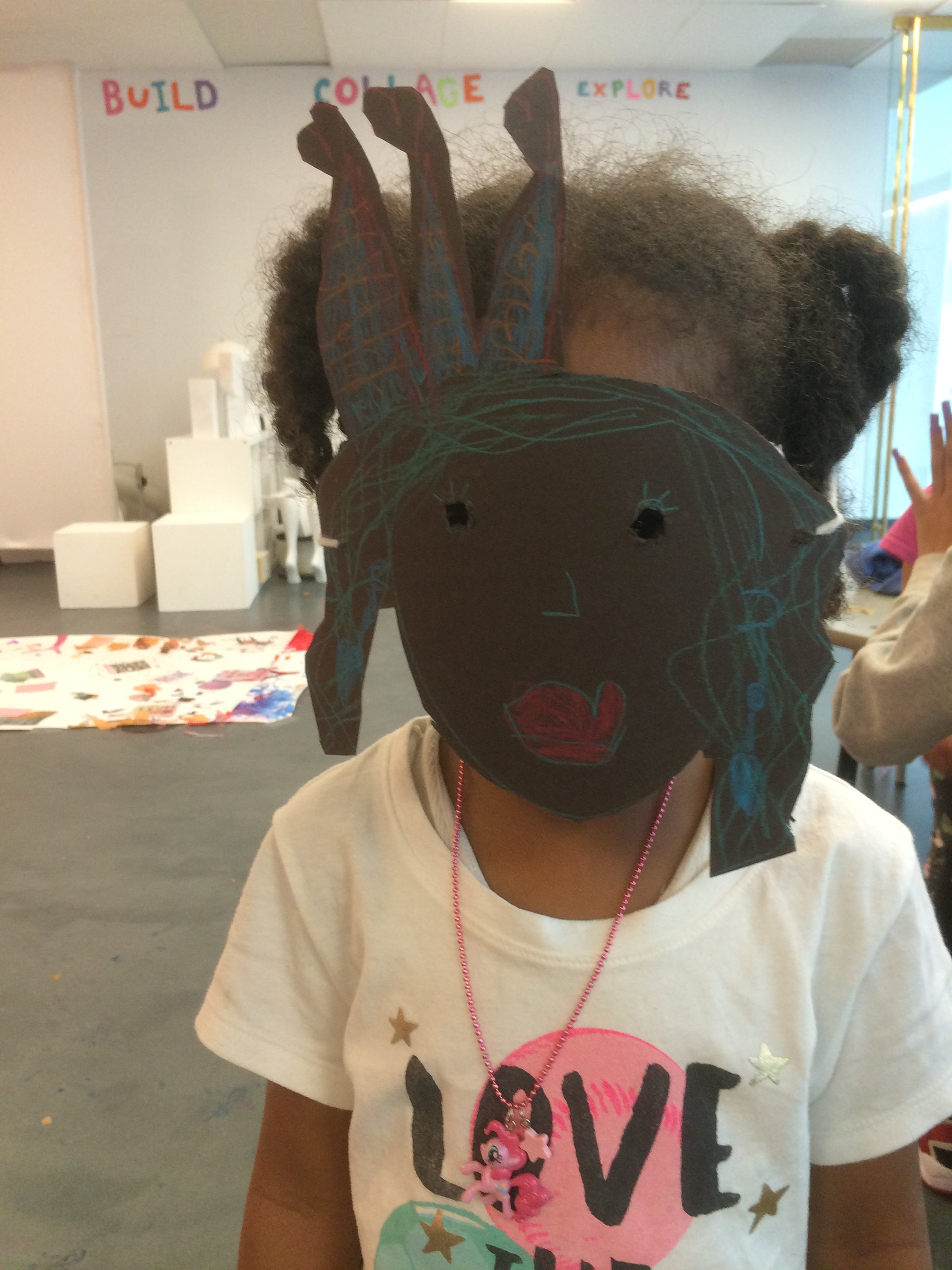 Making costumes at the Spring Recess Camp   .
