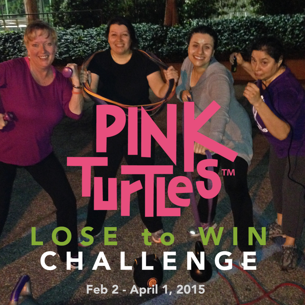 Pink Turtles Lose to Win Challenge