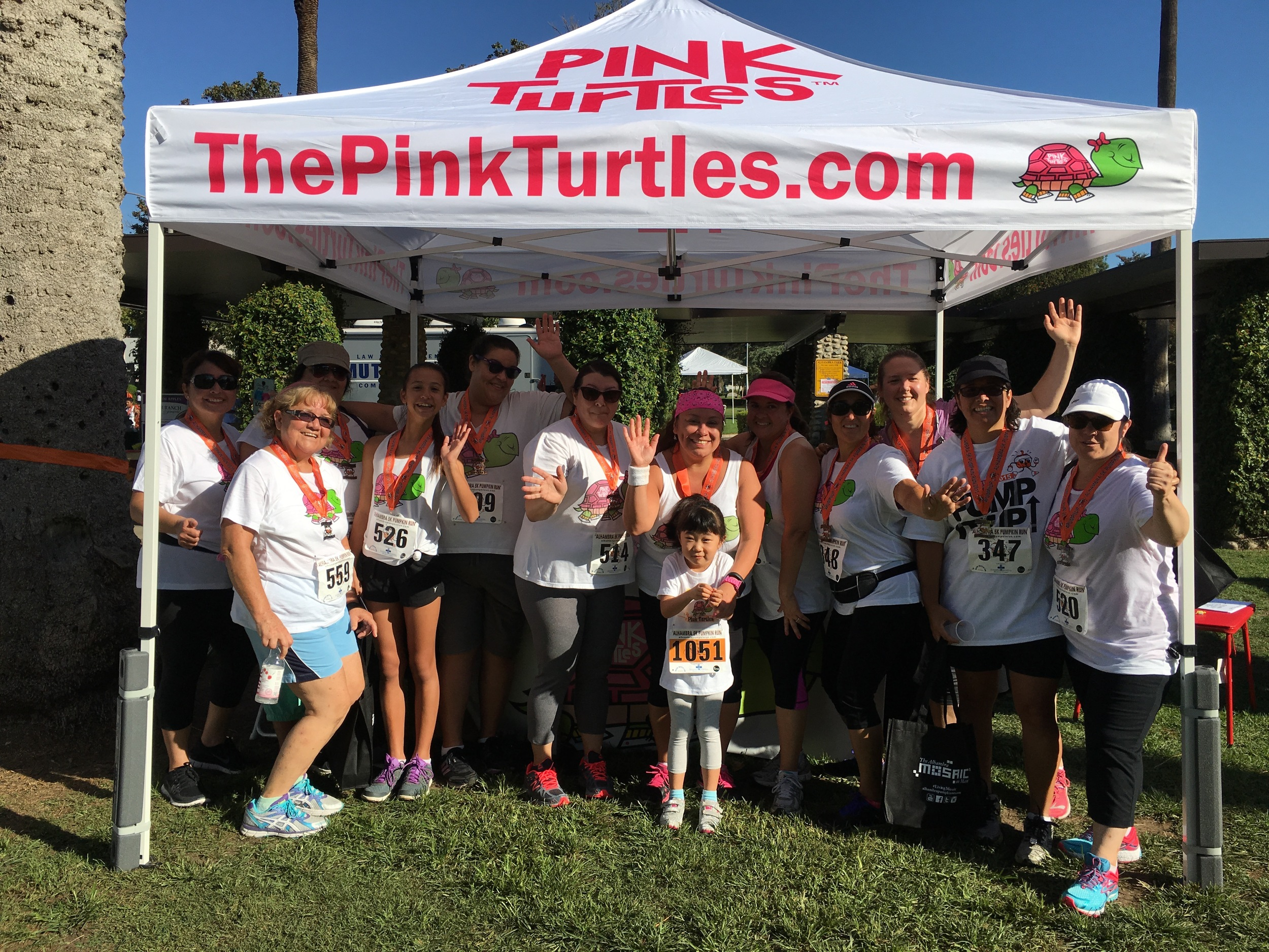 Pink Turtles Race Booth